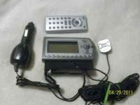 XM Satellite radio for automobile. Comes with cigarette