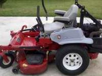"Lazer Z 48"" commercial grade riding lawnmower. 87"