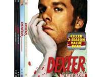 Dexter Seasons 1-3 on DVD. New, in box, never opened,