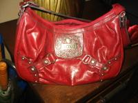 Gently used genuine leather, authentic XOXO Deep Red