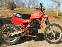 This XR500 Honda Dirt Bike is READY TO RIDE! It is an