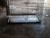 DA # 2643. Xtra Large (utilized) Dog Crate. 30 inches