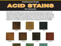 Acid Man 100 stains create beautiful varied colors on