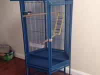 Super HUGE metal blue bird cage. Never Used. Paid $650,
