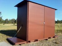 "NEW !! ""XXL Secure Storage Box"". Fork Liftable. Crane"