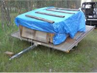 Yacht Club 2 sled aluminum trailer w/wood deck.