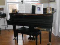 Beautiful Black Baby Grand Piano for Sale. Rarely