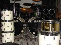 """2 X 24"""" BASS DRUMS WITH CHAIN DRIVEN PEDALS 1 X PEARL"""