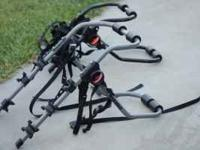 Nice Bike Rack can hold up to 3 bikes. Retails for