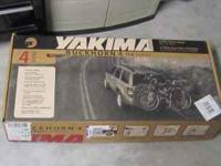Yakima bicycle rack holds 4 bicycles. For 1.25 inch