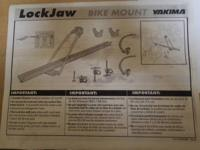 Two Lockjaw Bike Racks by Yakima.  New posted price is