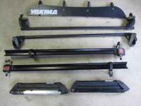 Complete Yakima roof rack system with bike and ski
