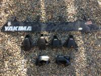 For sale are two various sorts of Yakima towers and a