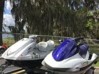 Both Jet skis are in very good condition. Both run