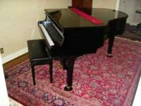 Beautiful Yamaha Disaklavier Grand Piano. Black.