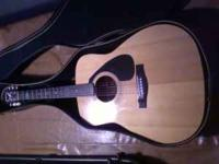 yamaha acoustic guitar, right handed, 6 string with