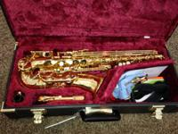 For sale is an excellent intermediate alto saxophone.