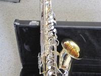 This is a Yamaha YAS-23 alto saxophone. This horn is