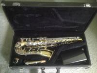 This is an alto saxophone in excellent condition. It
