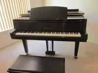 REALLY NICE YAMAHA BABY GRAND PIANO - EBONY FINISH -