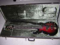 Black and Red Wine color Yamaha BB1600 4 String Bass