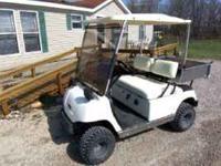 Nice 1996 G-16 Yamaha cart with good lift kit - Clutch