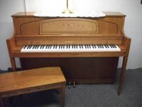 Very nice Yamaha Console piano and matching bench for