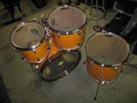 4 Piece kit. 3 Toms and a Kick drum. Sizes are 20""