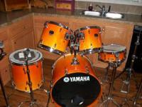 Yamaha stage custom drum set for sale. excellant