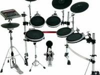This is a Yamaha DTXremeIIs electric drum set for sale.