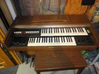 Yamaha Electone Organ and matching bench. Excellent