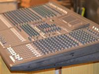 An utilized Yamaha GA 24/12 24channel mixing console.
