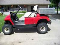 "2002 Yamaha G16 Golf Cart.Gas engine, has 24""x48""x 9"""