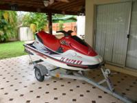 1997 YAMAHA GP 1200 RED N WHITE IN GREAT CONDITION.