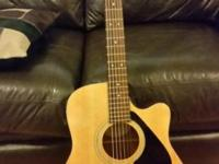 Yamaha FG-411CE acoustic electric guitar. Sounds great,