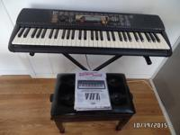 Yamaha Electronic Digital Keyboard with Adjustable
