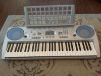 I am selling a Yamaha keyboard piano with head phones.