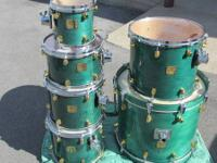YAMAHA MAPLE CUSTOM-MADE 6 ITEM DRUM SET is made use of