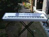 Full Size Keyboard (weighted keys) with stand, and