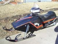 This snowmobile will start easy but has no speed. Not
