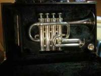 Like new Yamaha 6810S four valve piccolo trumpet.