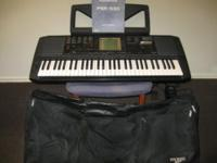 YAMAHA PSR530 61-Key (Full Size Weighted Keys) MIDI