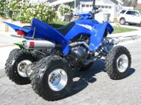 2005 Yamaha Raptor 350, like new, wifes quad, hardly