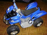 I have a Yamaha Raptor 12V Battery operated Ride on