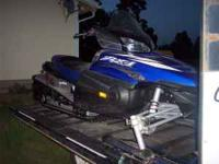 2003 Yamaha RX1 snowmobile. very low miles, $1900
