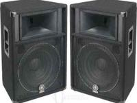 PAIR of used Yamaha S115IV loudspeakers. These work