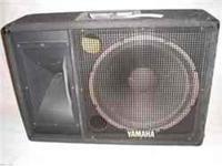 Set of three Yamaha SM 15 IV 15 inch monitors or main