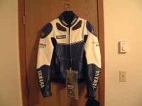 Yamaha racing jacket, size 44, bought new for $450.