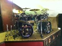 1. Yamaha Stage Custom Drum Set: (2 bass drums,2 Floor