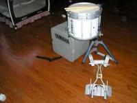 Yamaha Tall Marching Snare, marching frame, stand and